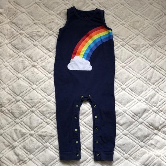 b56a7498a4 Cat & Jack One Pieces | Cat Jack Blue Romper Rainbow 18 M Boy Girl ...